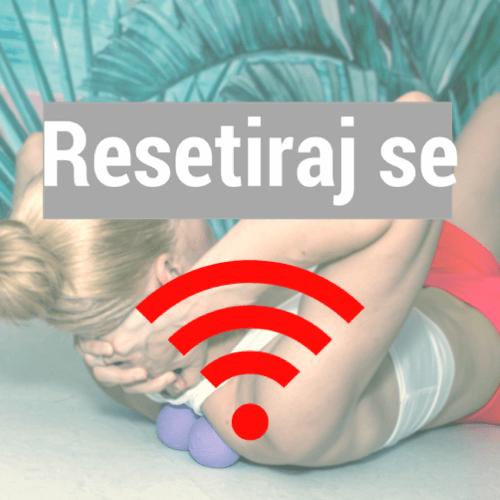 Terapevtske masažne žogice + samomasažni vadbeni sistem 'Resetiraj se'